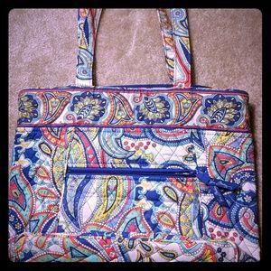 Vera Bradley Marina Paisley Satchel Tote Handbag